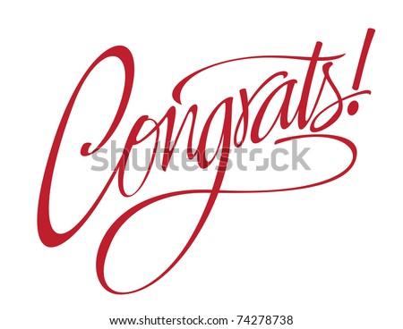 stock vector congrats vector lettering 74278738 - Jamshed yaar