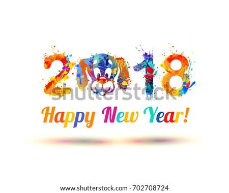 happy new year 2018 dog muzzle