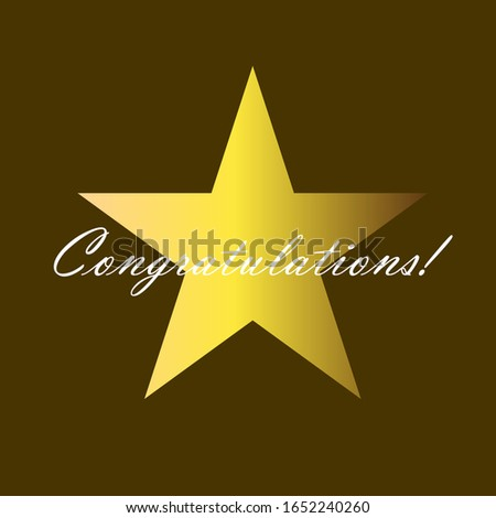 congratulations, beautiful greeting card background or template banner. vector design illustration