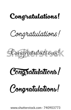 Congratulations card. Calligraphy lettering phrase.