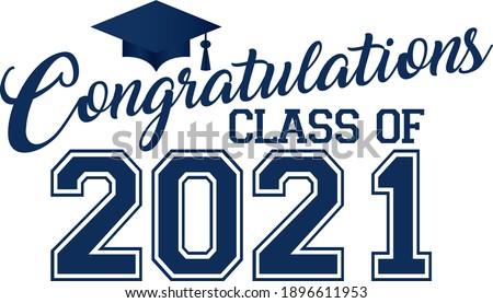 Congratulations Class of 2021  Blue Banner Stockfoto ©