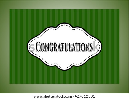 Congratulations colorful card, banner or poster with nice design