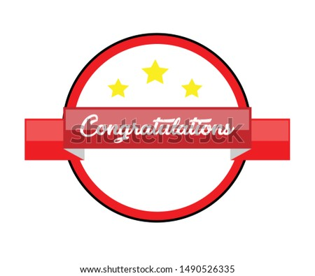 Congratulations!. Congratulations Banners for Winning, Birthday Parties, Sales, Holiday Design & Kids. Vector illustration.