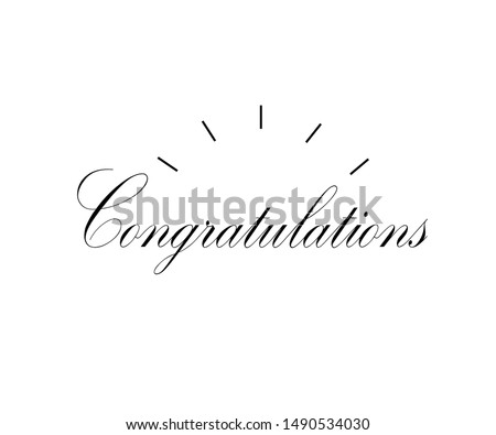 Congratulations! Congratulations Banners for Winning, Birthday Parties, Sales, Holiday Design & Kids. Vector illustration.
