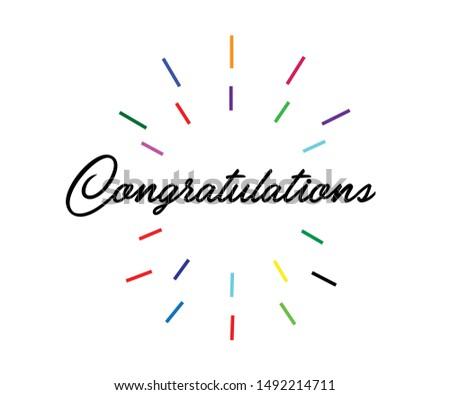 Congratulations. congratulations card. congratulations illustration. colorful