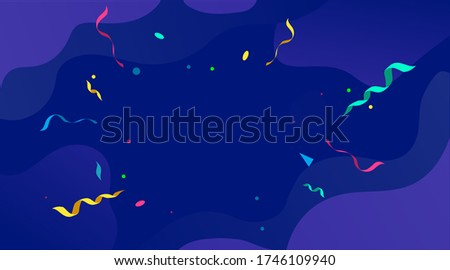 Congratulations design template with confetti for games, greeting cards, mobile applications etc