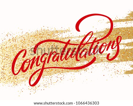 Congratulations. Greeting card. Vector lettering.