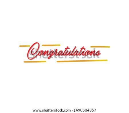 Congratulations!.Greeting for congratulations. Initial Letter Congratulations Illustration for greeting.