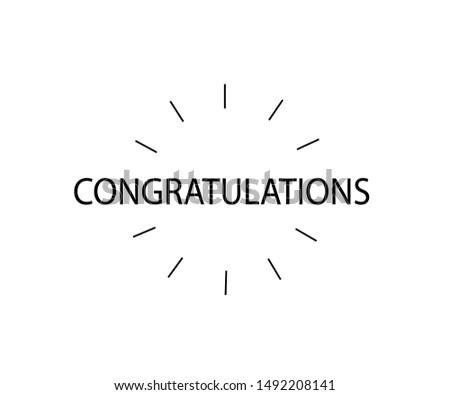 Congratulations! Greeting for congratulations. Initial Letter Congratulations Illustration for greeting