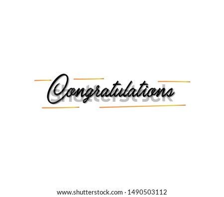 congratulations!. Greetings for congratulations. Initial Letter Congratulations Illustration for greeting.