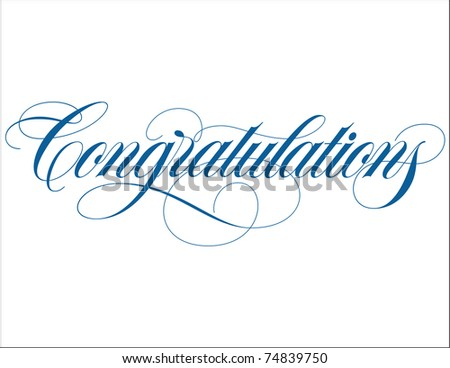 Congratulations Hand Lettering