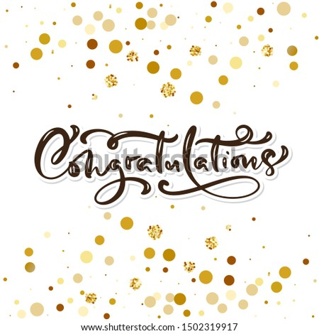Congratulations hand written lettering for greeting card, invitation, poster and print. Modern brush calligraphy. Isolated on background. Vector illustration