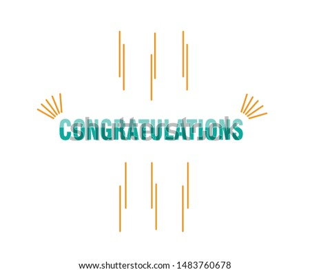 Congratulations -  Lettering, Handwritten, vector for greeting.