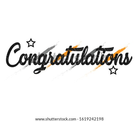 Congratulations - Message, quote, sign, Lettering, Handwritten, vector for greeting