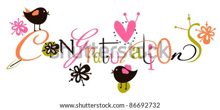 stock vector congratulations script card 86692732 - No Body Love Me:(