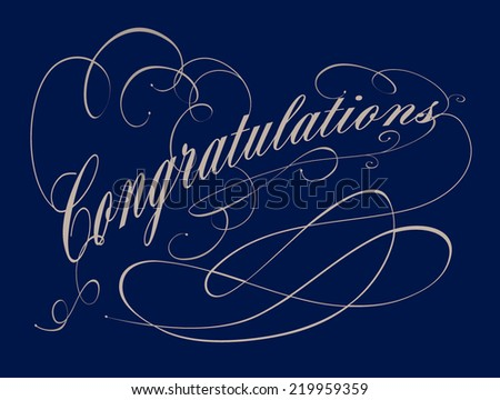 congratulations typography/calligraphy vector/illustration