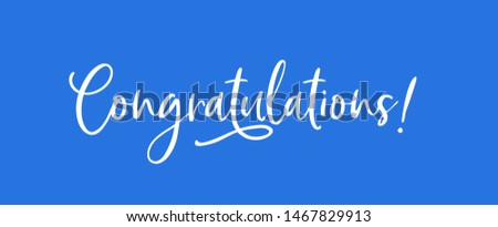 Congratulations - Typography, Lettering, Handwritten, vector for greeting - Vector