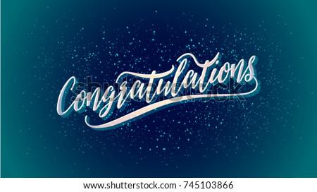 congratulations vector holiday