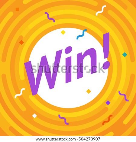 congratulations win banner