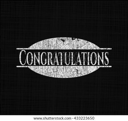 Congratulations written with chalkboard texture