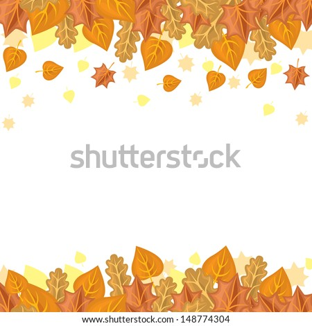 Congratulatory background with autumn leaves