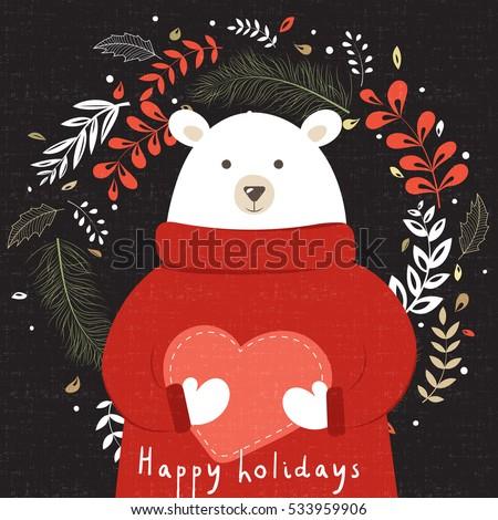 congratulatory card with cute