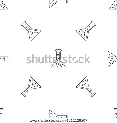 Conic chemical pot pattern seamless vector repeat geometric for any web design