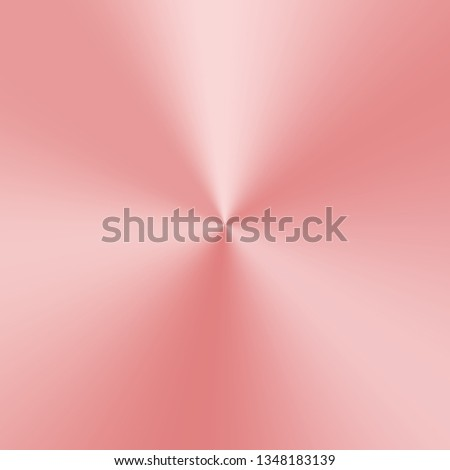 Conical metallic gradient with rose gold texture. Vector illustration