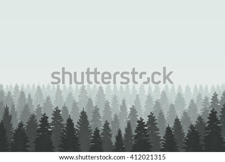 coniferous forest silhouette