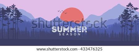coniferous forest silhouette