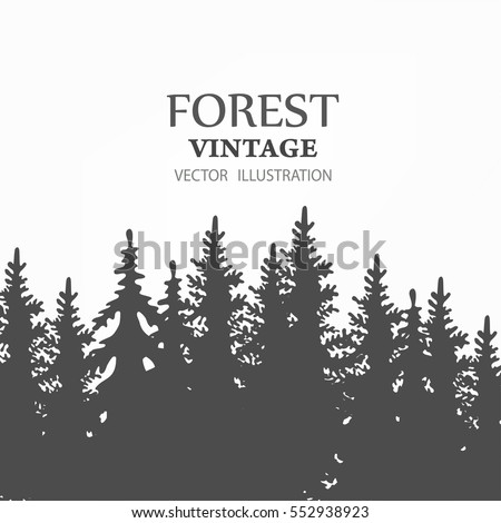 vector images illustrations and cliparts coniferous forest