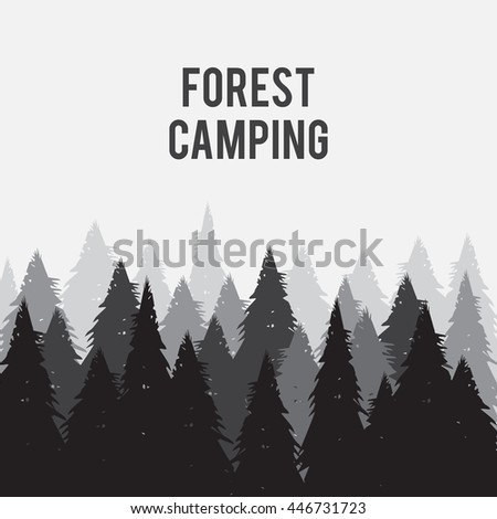 coniferous pine forest vector