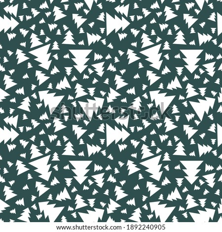 coniferous snow forest seamless