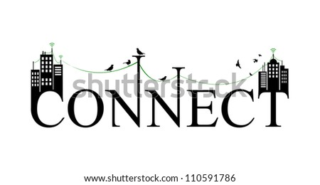 connect - stock vector