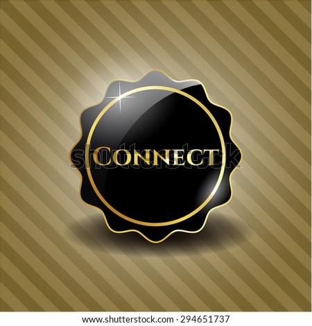 Connect black emblem