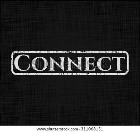 Connect chalk emblem