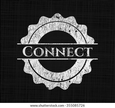 Connect chalkboard emblem