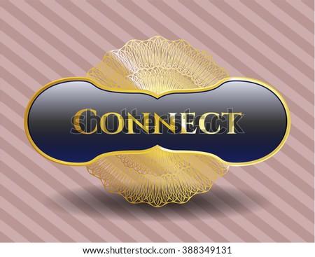 Connect gold badge or emblem
