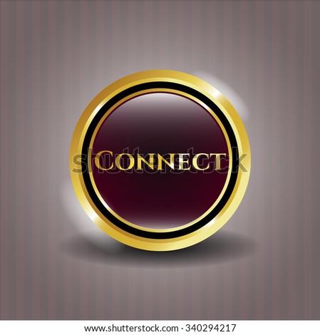 Connect gold emblem or badge