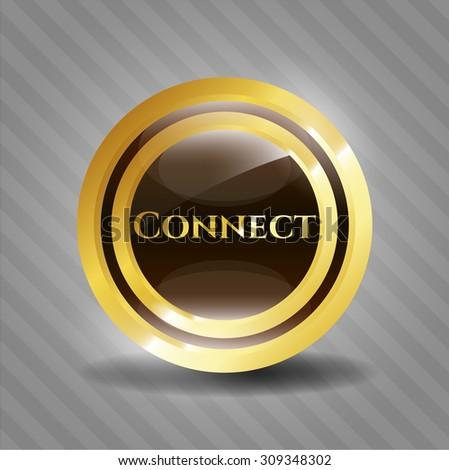 Connect gold shiny emblem