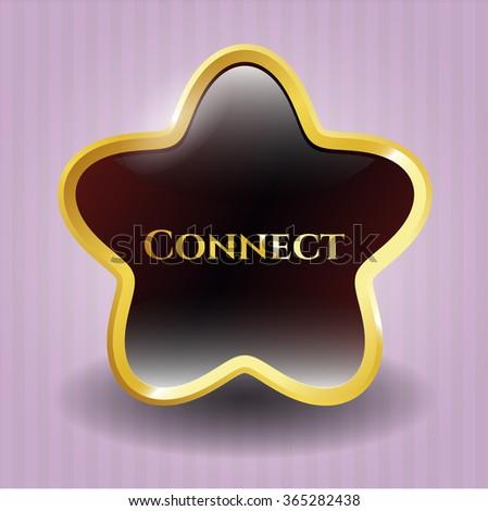 Connect golden emblem