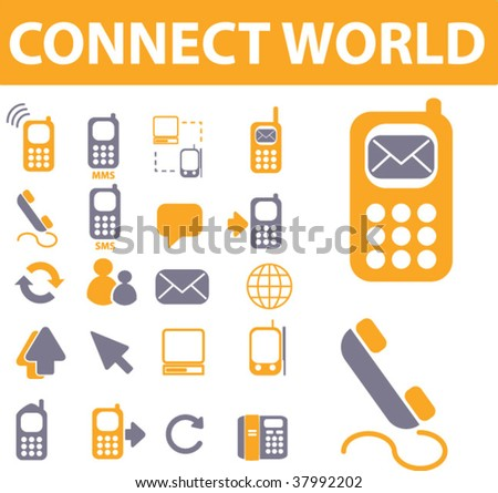 connect icons. vector
