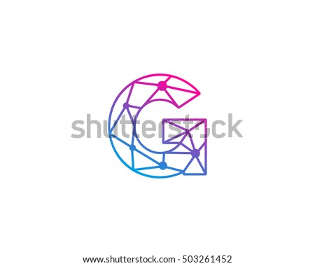 colorful abstract logo with letter g download free vector art
