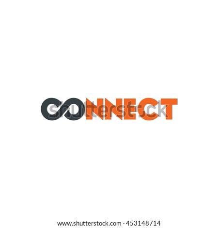 Connect Logo Design Template Elements