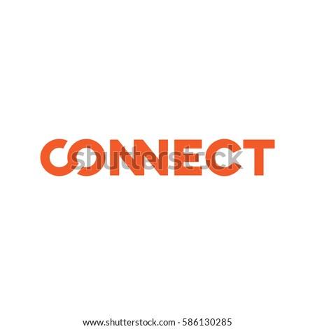 connect logo design template vector