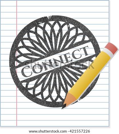 Connect pencil emblem