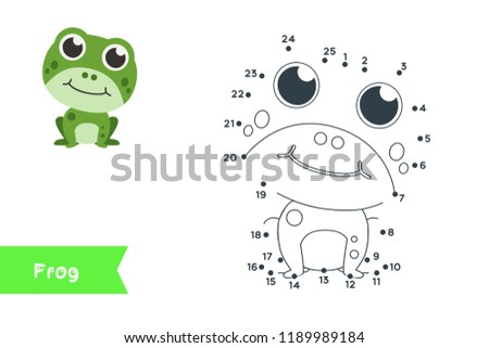 Connect the dots to draw and color it. Animal vector