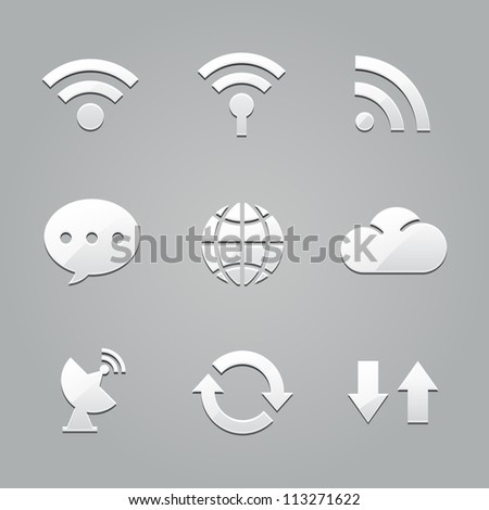 connect to the Internet icons : emboss style
