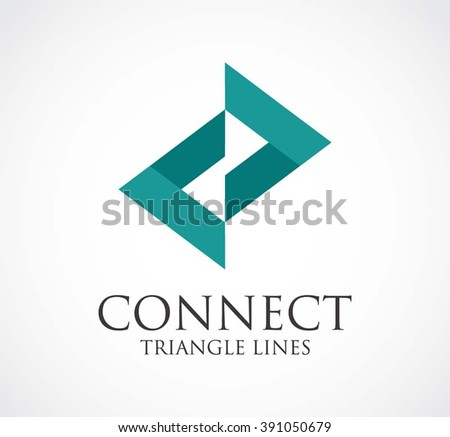 connect triangle of arrow line
