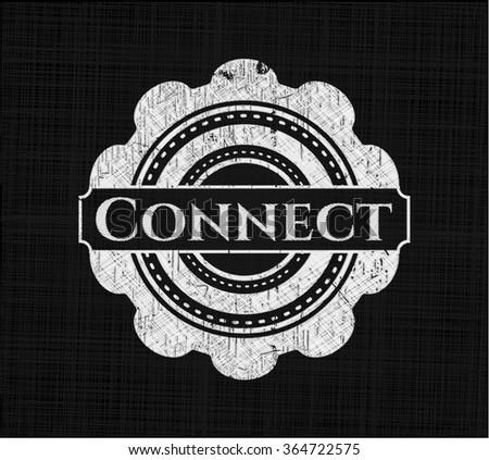 Connect written on a blackboard